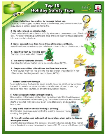Holiday Safety Tips | Virginia Restoration Services